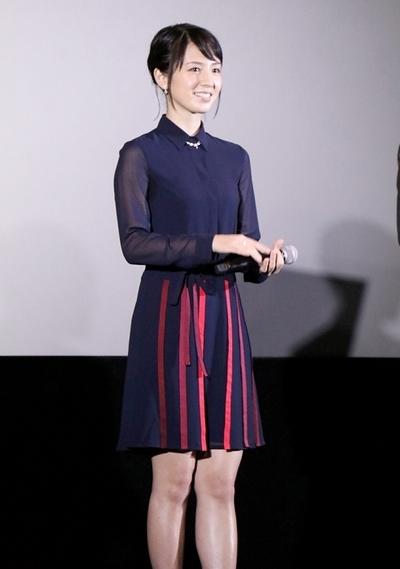 桜庭ななみ, Sep 17, 2016 : 東京都内で行われた日韓共作映画「絶壁の上のトランペット」初日舞台あいさつ