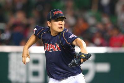 田中将大/Masahiro Tanaka (JPN),  MARCH 6, 2013 - WBC :  2013 World Baseball Classic  1st Round Pool A  between Japan 3-6 Cuba  at Yafuoku Dome, Fukuoka, Japan.  (Photo by YUTAKA/AFLO SPORT) [1040]