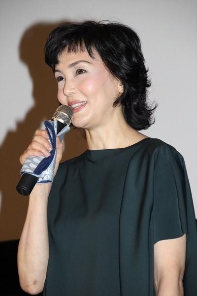 南果歩/Kaho Minami, May 29, 2016 : 東京・新宿バルト9にて行われた映画「葛城事件」の完成披露上映会