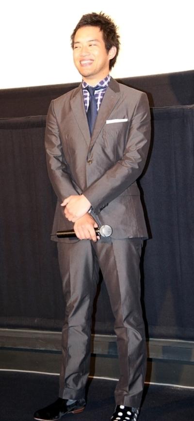 三浦貴大/Takahiro Miura, May 30, 2015 : 映画「種まく旅人 くにうみの郷」(篠原哲雄監督)初日舞台あいさつ=2015年5月30日撮影