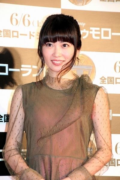 志田未来/Mirai Shida, May 25, 2015 : 六本木ヒルズで行われた映画『トゥモローランド』(ブラッド・バード監督)のジャパンプレミア