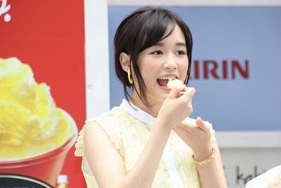 大原櫻子/Sakurako Ohara, Aug 13, 2015 : 「午後の紅茶 kakigori produced by yelo」のオープニングセレモニーに出席した大原櫻子さん
