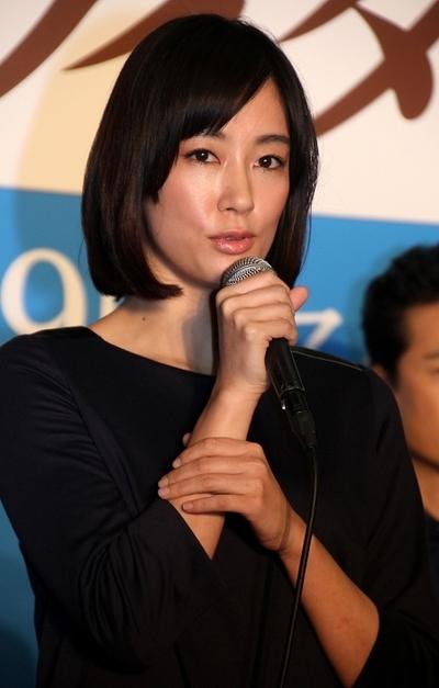 水川あさみ/Asami Mizukawa, Jan 10, 2015 : ドラマ「ゴーストライター」の会見=2015年1月10日撮影