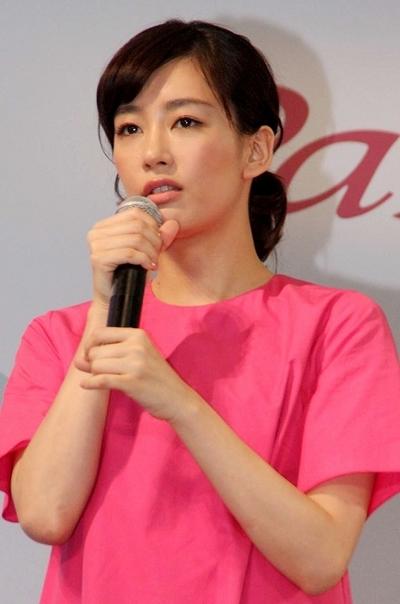 水川あさみ/Asami Mizukawa, Apr 14, 2014 : トヨタ新型「パッソ」新CM発表会=2014年4月14日撮影