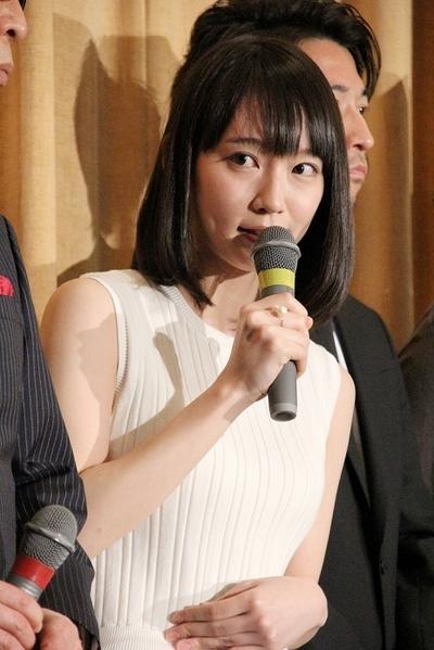 吉岡里帆/Riho Yoshioka, Mar 19, 2016 : 映画「つむぐもの」の初日舞台あいさつ
