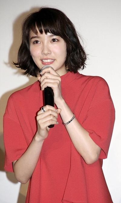 飯豊まりえ/Marie Iitoyo, May 12, 2016 : 東京都内で行われた映画「MARS~ただ、君を愛してる~」の完成披露試写会