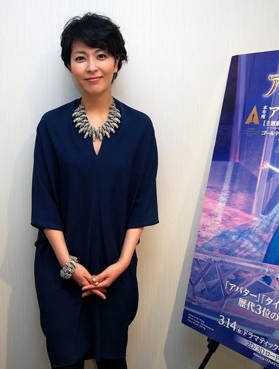 松たか子/Takako Matsu, Mar 20, 2014 : 「アナと雪の女王」の日本版でエルサ役の松たか子さん=2014年3月20日撮影