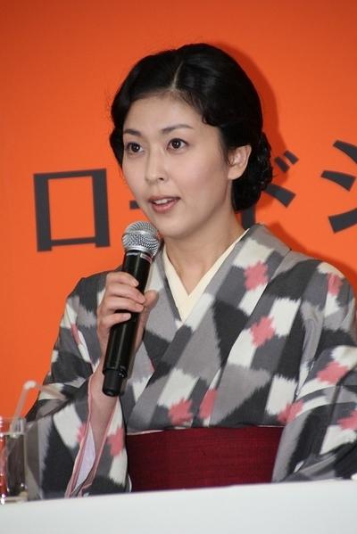 松たか子/Takako Matsu, Apr 15, 2013 : 映画「小さいおうち」(山田洋次監督)の製作会見に出席した松たか子さん=2013年4月15日撮影