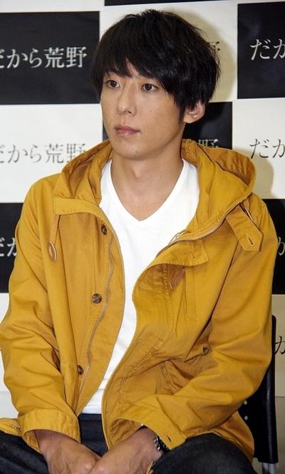 高橋一生/Issei Takahashi, Oct 08, 2014 : 来年1月から放送の連続ドラマ「だから荒野」の会見=2014年10月8日撮影